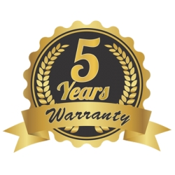 Up to 5 years of warranty