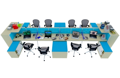 Fancy Big Workstation Jual System Office Furniture