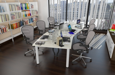 Wave Shaped Staff Desking