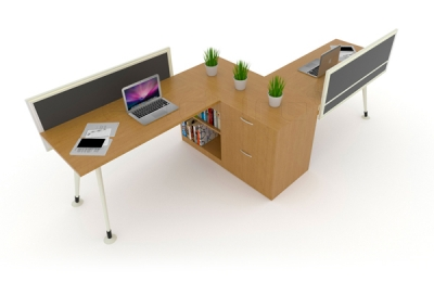 2 Staff Linear Desking