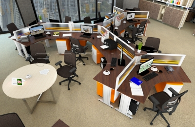 Unique Y Shaped Desking