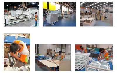 Upon approval, we produce the furniture in factory